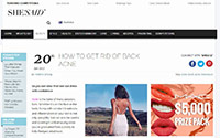 SheSaid.com June 2017 featuring Zilch Acne Formula